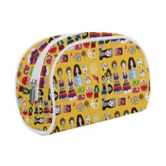 Drawing Collage Yellow Make Up Case (small)