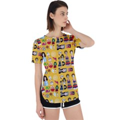 Drawing Collage Yellow Perpetual Short Sleeve T-shirt
