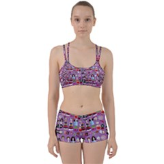 Drawing Collage Purple Perfect Fit Gym Set