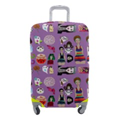 Drawing Collage Purple Luggage Cover (small)