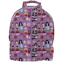 Drawing Collage Purple Mini Full Print Backpack