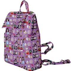 Drawing Collage Purple Buckle Everyday Backpack
