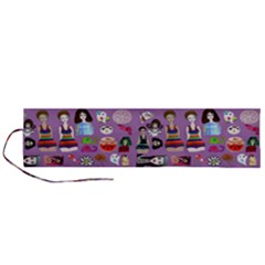 Drawing Collage Purple Roll Up Canvas Pencil Holder (l)