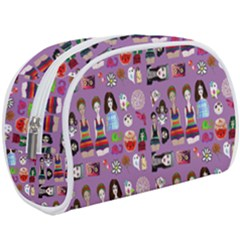 Drawing Collage Purple Make Up Case (large)