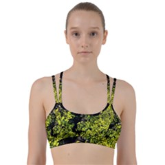 Acid Green Patterns Line Them Up Sports Bra