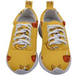 Corgi And Coffee Kids Athletic Shoes