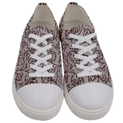 Curly Lines Men s Low Top Canvas Sneakers