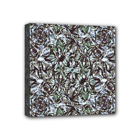 Intricate Textured Ornate Pattern Design Mini Canvas 4  X 4  (stretched)