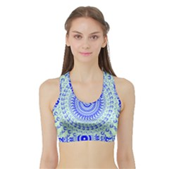 Graphic Sports Bra With Border