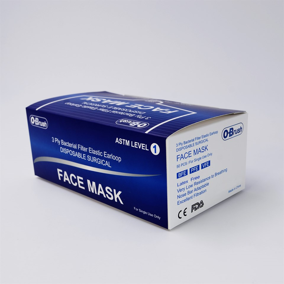 ASTM Level 1 Surgical Masks 3-Ply - Photo