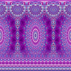 india ornaments mandala pillar blue violet