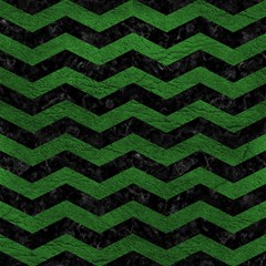 chevron3 black marble green leather