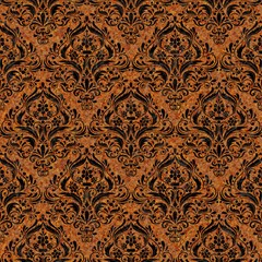 damask1 black marble rusted metal
