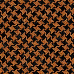 houndstooth2 black marble rusted metal