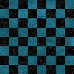 square1 black marble teal leather