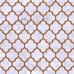tile1 white marble rusted metal