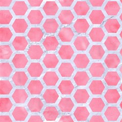 hexagon2 white marble pink watercolor