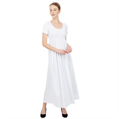 High Waist Short Sleeve Maxi Dress Icon