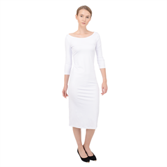 Quarter Sleeve Midi Bodycon Dress Icon