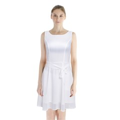 Sleeveless Waist Tie Chiffon Dress Icon