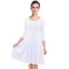 Quarter Sleeve Waist Band Dress Icon