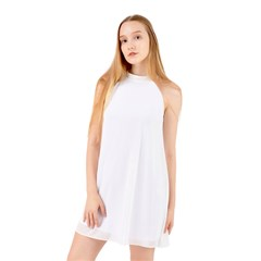 Halter Neckline Chiffon Dress  Icon