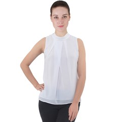 Mock Neck Chiffon Sleeveless Top Icon