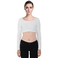 Velvet Long Sleeve Crop Top Icon