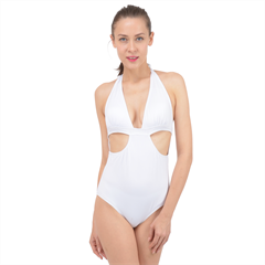 Halter Front Plunge Swimsuit Icon