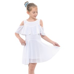 Kids  Shoulder Cutout Chiffon Dress Icon