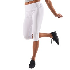 Lightweight Velour Capri Yoga Leggings Icon