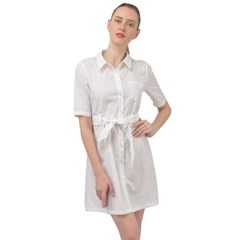 Belted Shirt Dress Icon