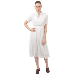 Keyhole Neckline Chiffon Dress Icon
