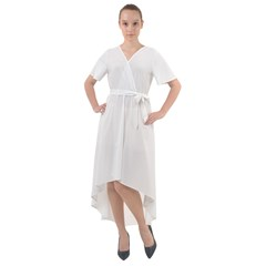 Front Wrap High Low Dress Icon