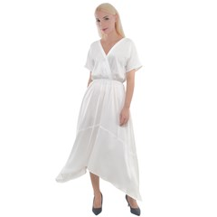 Cross Front Sharkbite Hem Maxi Dress Icon