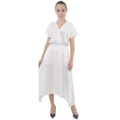 Quarter Sleeve Wrap Front Maxi Dress Icon