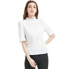 Frill Neck Blouse Icon