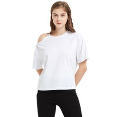 One Shoulder Cut Out Tee Icon