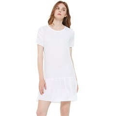 Short Sleeve Drop Hem Chiffon Dress Icon