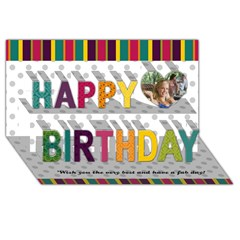 Happy Birthday 3D Greeting Card (8x4) Icon