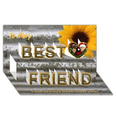 Best Friends 3D Greeting Card (8x4) Icon