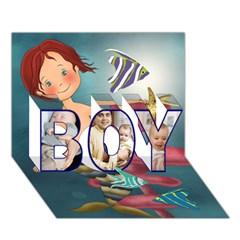 BOY 3D Greeting Card (7x5) Icon