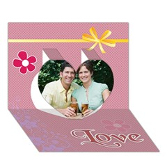 Heart 3D Greeting Card (7x5) Icon