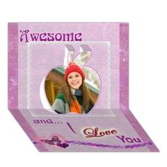 Apple 3D Greeting Card (7x5) Icon
