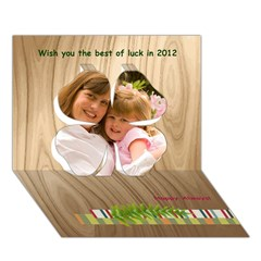 Clover 3D Greeting Card (7x5) Icon