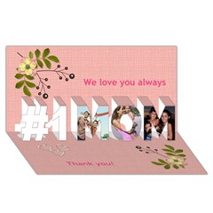 #1 MOM 3D Greeting Cards (8x4) Icon