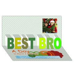 BEST BRO 3D Greeting Card (8x4) Icon