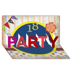 PARTY 3D Greeting Card (8x4) Icon