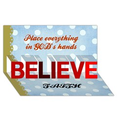 BELIEVE 3D Greeting Card (8x4) Icon