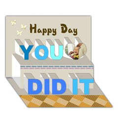 You Did It 3D Greeting Card (7x5) Icon